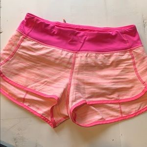 Pink lulu run short